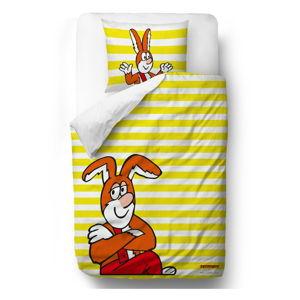 Dětské povlečení z bavlněného saténu na jednolůžko Čtyřlístek by Mr. Little Fox Bunny, 140x200cm