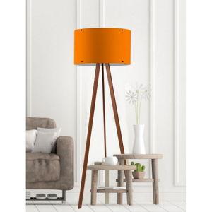 Oranžová stojací lampa Woddy