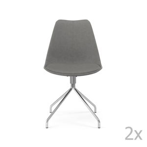 Sada 2 šedých jídelních židlí Tenzo Gina Star