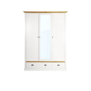 Krémově bílá šatní skříň Steens Sandringham, 192 x 148 cm