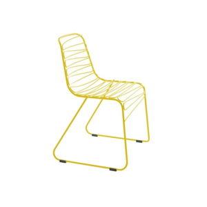 Žlutá jídelní židle Magis Flux