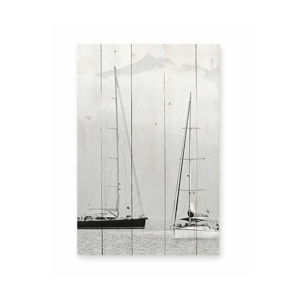 Nástěnná cedule z borovicového dřeva Really Nice Things Nautica Fotografia, 40 x 60 cm
