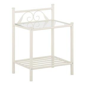 Bílý noční stolek Støraa Bibi