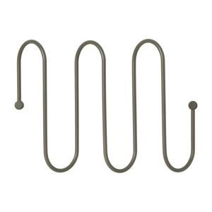 Tmavě šedý nástěnný věšák se 3 háčky Blomus Curl