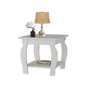 Bílý odkládací stolek z borovicového dřeva Støraa Maria