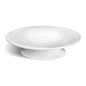 Bílý porcelánový podnos na dort Kähler Design Hammershoi Cake Dish, ⌀ 30 cm