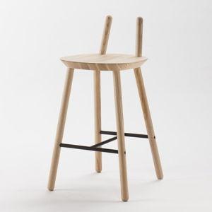 Přírodní barová židle z masivu EMKO Naïve