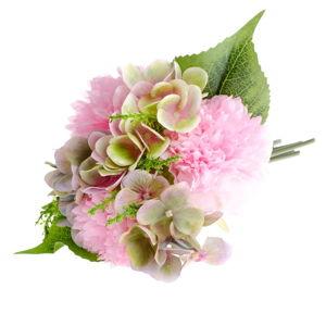 Umělá květina ve stylu pivoňky s hortenzií Dakls