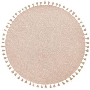 Béžový ručně vyrobený koberec Nattiot Heloise,⌀140cm