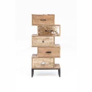 Komoda s 5 zásuvkami z akáciového dřeva WOOX LIVING