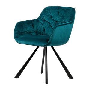 Tmavě modrá jídelní židle WOOOD Elaine