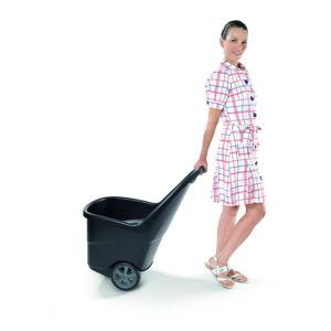 Černý zahradní odpadkový koš na kolečkách Keter, 62 l