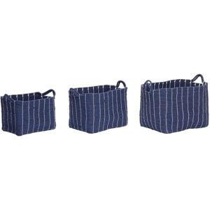 Sada 3 tmavě modrých úložných košíků Hübsch Gatto
