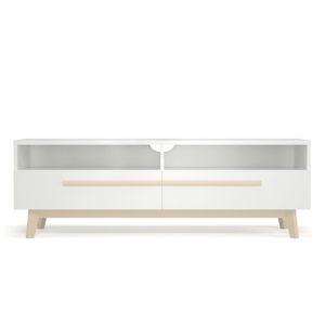 Bílý televizní stolek Artemob Naiss