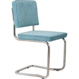 Sada 2 modrých židlí Zuiver Ridge Kink Rib