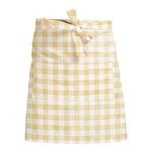Látková zástěra Linen Couture Delantal de Lino Yellow Vichy