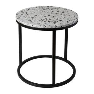 Konferenční stolek s kamennou deskou RGE Cosmos, ø 50 cm