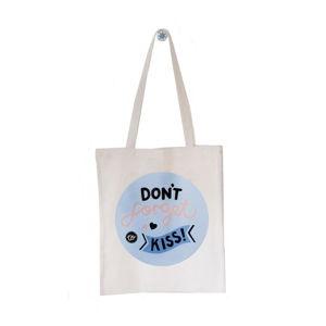 Bavlněná taška Michelle Carlslund Don´t Forget To Kiss