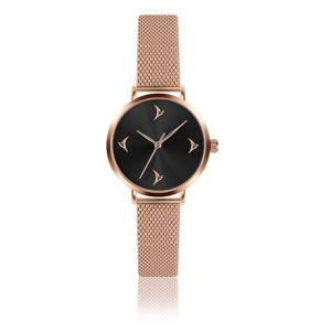 Dámské hodinky s páskem z nerezové oceli v růžovozlaté barvě Emily Westwood Comeno