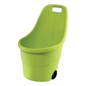 Zelený zahradní odpadkový koš na kolečkách Keter, 55 l