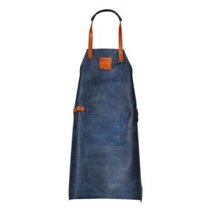 Modrá kožená zástěra Boska Mr Smith Culinary Apron Blue Pocket