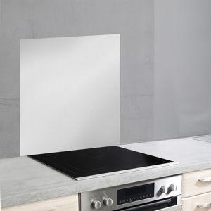 Skleněný kryt na zeď u sporáku ve stříbrné barvě Wenko, 70x60cm