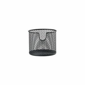 Černý kovový úložný košík Zone Inu,ø10cm