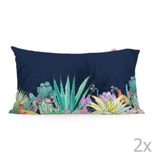 Sada 2 bavlněných povlaků na polštář Happy Friday Cactus,50x75cm