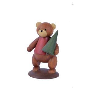 Vánoční dekorace ve tvaru medvídka Ego Dekor,výška16,5cm