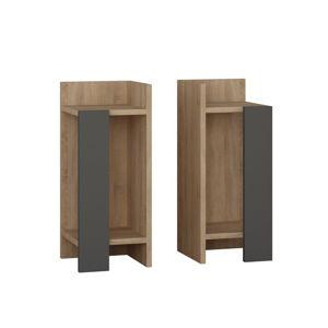 Sada 2 nočních stolků v dekoru dubového dřeva Elos