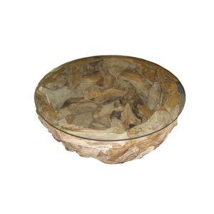 Konferenční stolek z teakového dřeva HSM collection Mara,⌀80cm