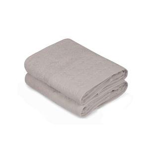 Sada dvou béžových ručníků Provence, 90x50cm