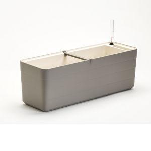 Šedo-béžový samozavlažovací truhlík Plastia Berberis , délka59 cm