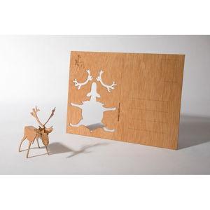 Dřevěná pohlednice Formes Berlin Sob, 14,8 x 10,5 cm