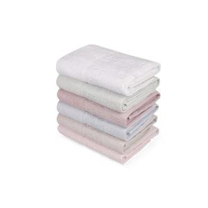 Sada šesti ručníků v pastelových barvách Pastela, 90x50cm