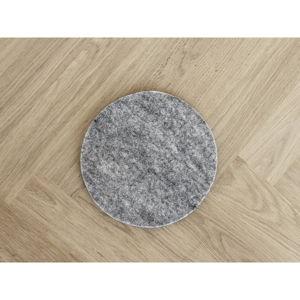 Ocelově šedý plstěný podtácek z vlny Wooldot Felt Coaster, ⌀ 20 cm