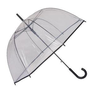 Transparentní holový deštník s černými detaily Birdcage Border, ⌀81cm
