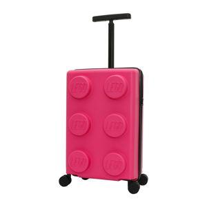Fialový dětský kufr na kolečkách LEGO® Signature 20