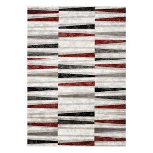 Šedo-červený koberec Webtappeti Manhattan Tribeca,120x170cm