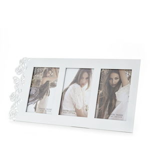 Dřevěný fotorámeček Tomasucci Eden White, pro fotografii 10x15cm