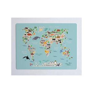 Podložka na stůl Little Nice Things World Map, 55 x 35 cm