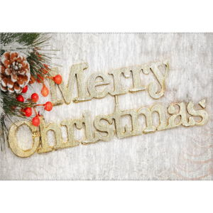 Koberec Vitaus Christmas Period Golden Sign, 50 x 80 cm