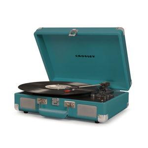 Tmavě tyrkysový gramofon Crosley Cruiser Deluxe