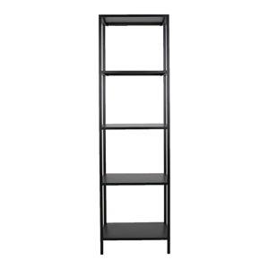 Černý kovový regál Canett Lite, výška 175 cm