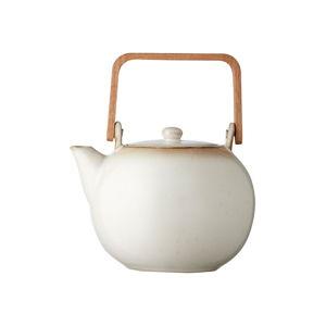 Krémová kameninová konvička na čaj Bitz Basics Cream, 1,2 l
